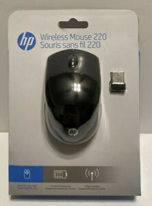 HP 220 Wireless Mouse, Contoured and Ergonomic, Blue LED Technology, Black *NEW*