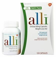 Alli Weight Loss Aid Orlistat 60 mg Capsules 120-Count Refill Pack