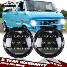 2x7inch LED Hi-Lo Beam Headlights H4/H13 for 1969-1978 Ford E-100/150 Econoline