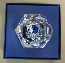 New 5 oz Dallas Mavericks Swarovski Crystal Ball Paperweight in Box