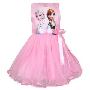 Kinder Mädchen Kleid Königin Prinzessin Anna Elsa Kleid Kinder Party Kleid