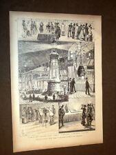 Esposizione elettrica di Parigi nel 1881 Telefono portatile Faro Luce girante