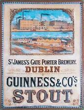 More details for guinness brewery large embossed steell sign 400mm x 300mm