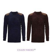 Brave Soul New Mens Winter Crew Neck Jumper Fashion Knit Classic Sweater S-XL