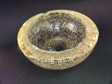DAUM + NANCY FRENCH ART GLASS BOWL / ASHTRAY  RETRO SIGNED RARE  50's