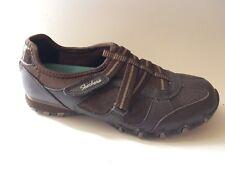 Skechers Bikers Rock Steady 22367 Brown Sport Relaxed Fit Women 6 M Shoe Leather