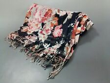 Auth EPICE Black Pink Multi Cotton Scarf