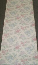 Vintage Light Pink, Blue & Purple Floral on Off White by Vymura  25-202