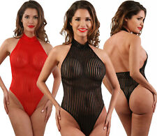 BODY STRING TOP SEXY FEMME TRANSPARENT TULLE LINGERIE ÉROTIQUE SPAZM T.S M ou L