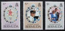 BERMUDA 1981 Royal Wedding. Set of 3. Mint Never Hinged. SG436/438.