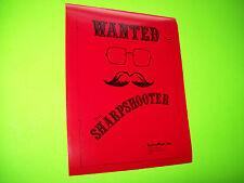 Game Plan SHARPSHOOTER Original 1979 NOS Flipper Pinball Machine Flyer Teaser
