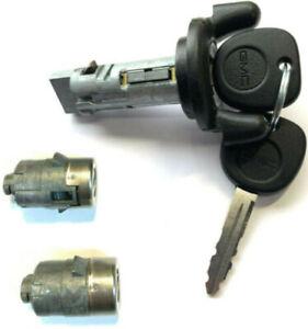 GMC OEM IGNITION KEY SWITCH LOCK CYLINDER + 2 DOOR KEY LOCK CYLINDERS W/2 KEYS