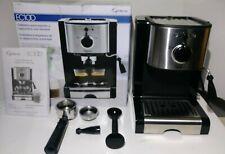 Capresso Pump Espresso and Cappuccino Machine EC100, Black/Stainless New Other