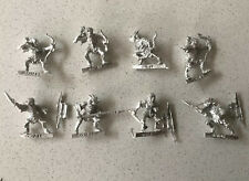 8 x metal Armoured Moria Goblins Lord Of The Rings Games Workshop figures MIB