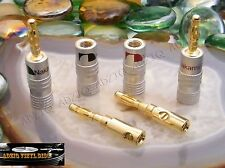 ♫ 2 PAIRES FICHES BANANES NAKAMICHI GOLD 24 K  HIGH DÉFINITION ♫