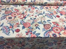 "Waverly 54"" -Graceful Garden Poppy Drapery fabric  by the yard"