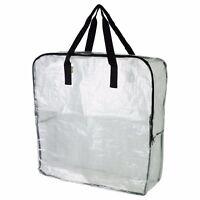 DIMPA Bolsa almacenaje transparente con cremallera 65x22x65cm Protector de