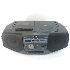 1998 Sony CD/ Radio /Cassette Corder, Mega Bass Port, model CFD-V25 TESTED