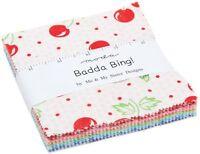 "Badda Bing Moda Charm Pack 42 100% Cotton 5"" Precut Fabric Quilt Squares"