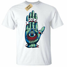 illuminati hand Mens T-Shirt goth rock punk metal mystical white