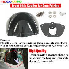Black Front Chin Spoiler Air Dam Fairing Guard For Harley Davidson Dyna 06-17