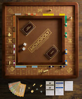 Winning Solutions Monopoly Luxury Edition Board Game Wood / Faux Leather NEW