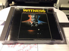 MAURICE JARRE Witness Soundtrack RARE EARLY CD Non-Target MADE IN JAPAN Varese