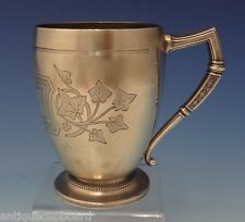 Ivy by Whiting Sterling Silver Cup with Ivy Design Bright-Cut #58T (#0718)