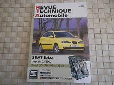 REVUE TECHNIQUE SEAT IBIZA DIESEL 1.9 SDi et 1.9 TDi (depuis 03/2002)