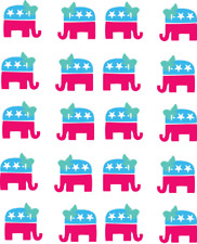 Republican Party (Elephant) Waterslide Nail Decals/Nail Art
