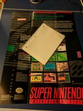 """Full Size Super Nintendo Console Pack-in poster w/ """"how-to-hook-up SNES"""" inst."""