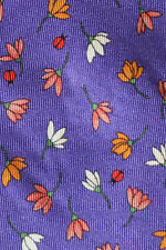 NEW & LINGWOOD MENS SILK NECKTIE WITH PURPLE AMBER & WHITE FLOWER HEADS A BEAUTY