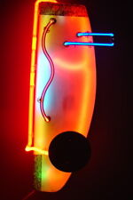 """Neon art wall sculpture """"FACE"""" artist Robert Johnson NEONEON - mpls. MN"""