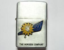 VTG Borden Milk 1957 Second 100 Year Anniversary Zippo Lighter Elsie Logo Rare