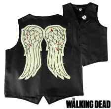 The Walking Dead Officially Licensed Daryl Dixon Biker Angel Wing Vest - Large