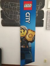 "LEGO Store Exclusive New Display Banner Fabric City Police (18x79"") US Seller"