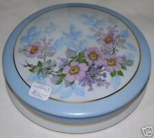 Limoges Covered Floral Dish Pink Flowers NICE!