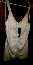 Women 14 $59.95 Ivory Cream gethered front stretchy ivory cream dressy strap top
