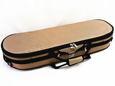 Special Pattern 4/4 Enhanced/Moon Shape Designed Violin Case +Violin String Set