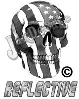 Subdued Tactical American Flag Decal Reflective Skull Tactical Flag decal 5 inch