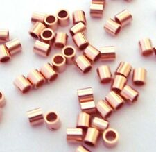 100pcs 14k ROSE Gold Filled crimp bead tube spacer 2mm wire closure  RF01