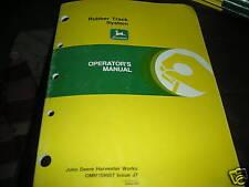 John Deere Rubber Track System Operator's Manual