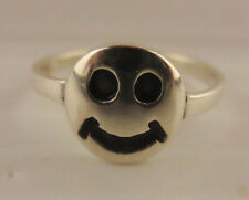 Sterling Silver Smiley Face Tiny Size Baby Childs Ring 925 Size 3