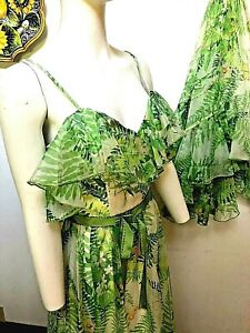 VINTAGE VICTOR COSTA (70s) ETHEREAL BUTTERFLY DRESS W/ WRAP-S