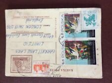 b1v ephemera f d c stamp poland polska 100 zl creased