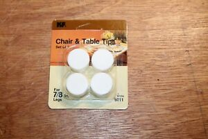 """Lot of 24 pcs WAXMAN #6011 7/8"""" FURNITURE LEGS TIPS White for Table/Chair 4 PACK"""