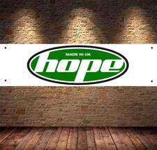 hope uk mtb  Garage Banner PVC Sign, Workshop pitlane mancave