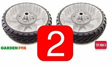 "savers - 2 x Genuine TORO REAR WHEELS & Gear ASSY 8"" 119-3822 U334"