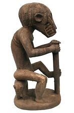 Art Africain Premier - Singe Mendiant Mbotumbo Baoule - Position Extra - 39 Cms