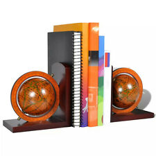 Bookstand Bookend Pair Globe Design Book Holder Desk Organiser Office Stationery